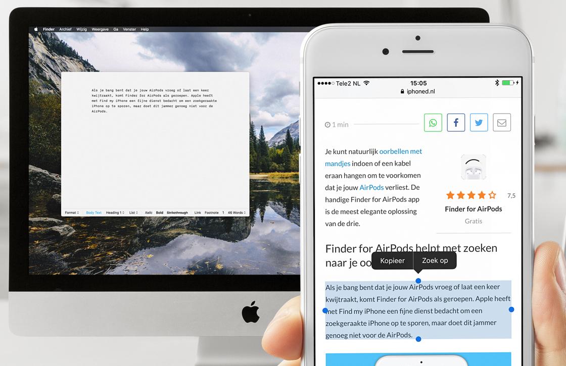Universeel Klembord: zo werkt kopiëren/plakken tussen iOS en Mac