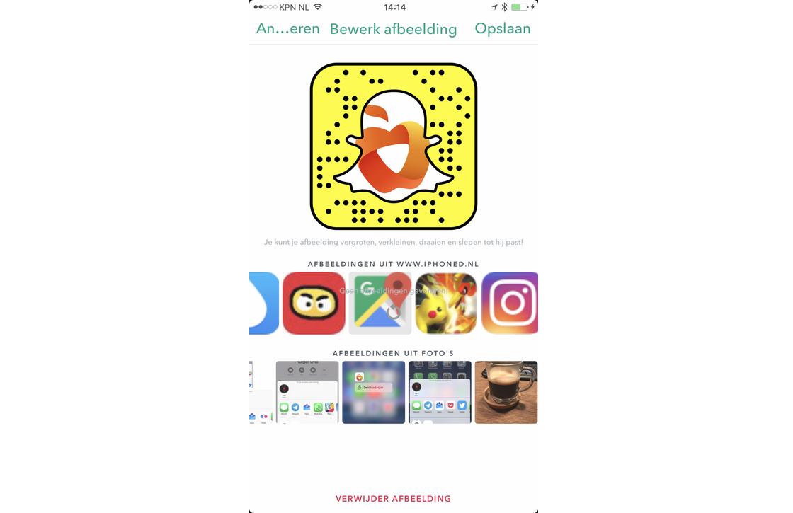 Snapcode maken
