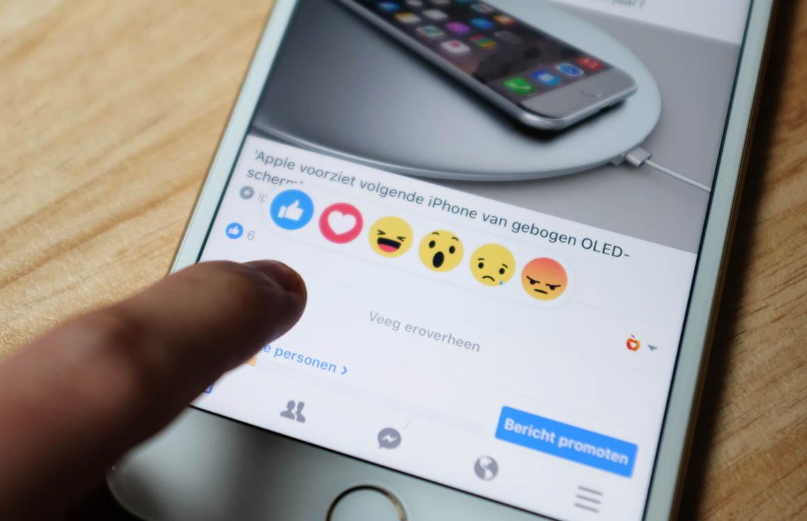 Facebook weegt hartjes onder posts zwaarder mee dan duimpjes