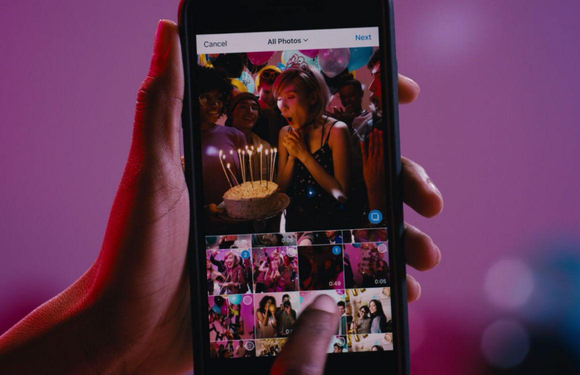 Zo upload je tien foto's en video's tegelijk naar Instagram