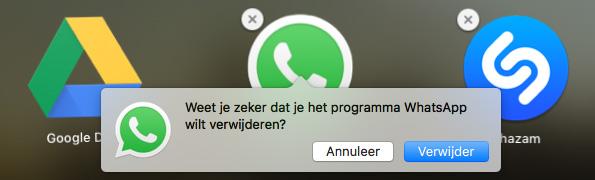 mac apps verwijderen