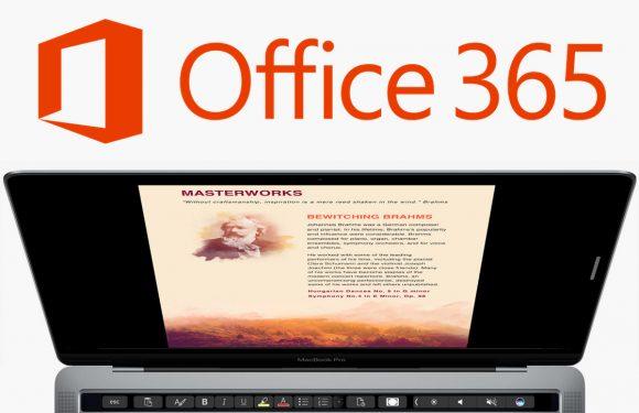 Touch Bar-ondersteuning voor Microsoft Office nu voor iedereen