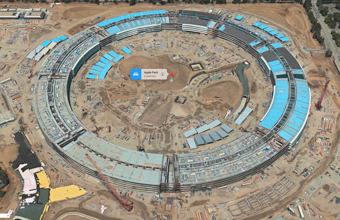 Zo breng je een digitaal bezoekje aan het Apple Park via Apple Maps