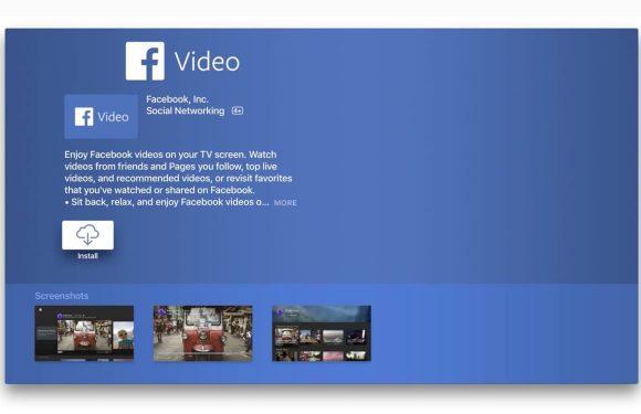 Facebook lanceert gloednieuwe Facebook Video-app voor Apple TV