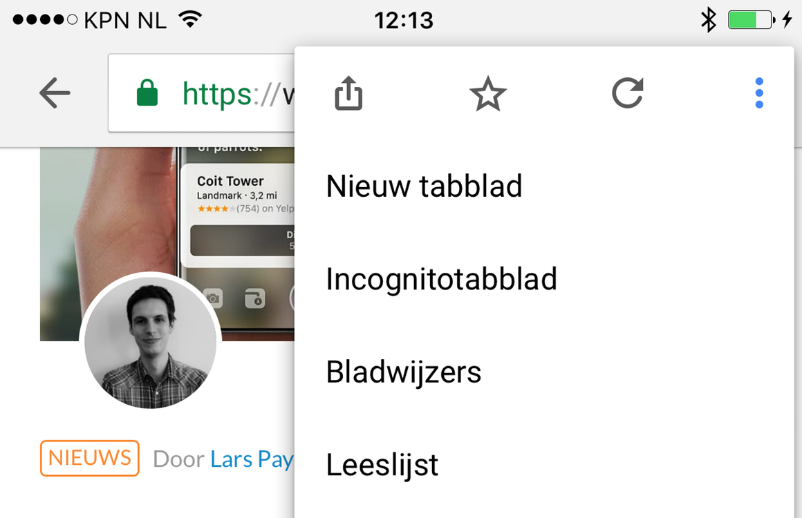 Google Chrome leeslijst