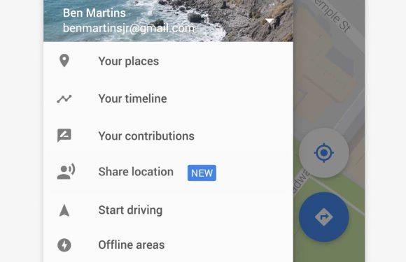Google Maps live locatie delen
