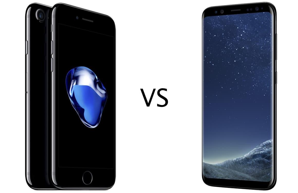 iPhone 7 vs Galaxy S8: specs, camera, design, accu en meer vergeleken