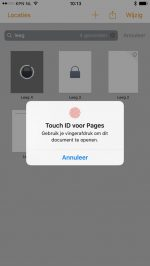 iWork Touch ID