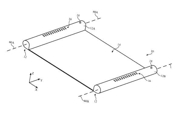 Apple onderzoekt futuristisch-ogend apparaat met uitrolbaar OLED-scherm
