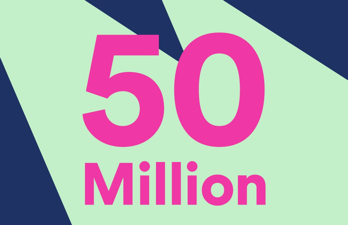 Spotify 50 miljoen