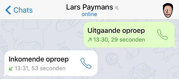 telegram belfunctie