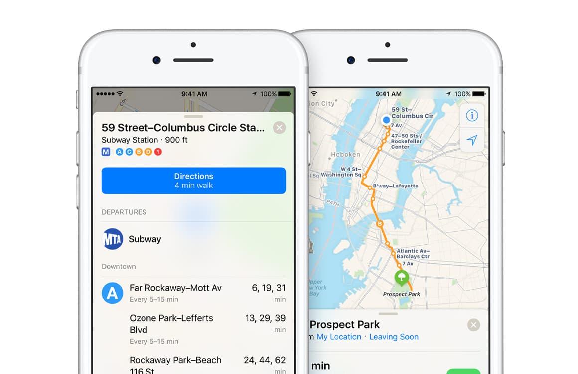 'Apple Maps krijgt spoedig OV-info in Nederland'