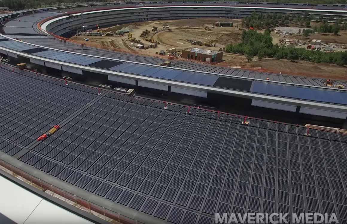 Apple Park dronevideo laat zien dat er nog werk voor de opening is