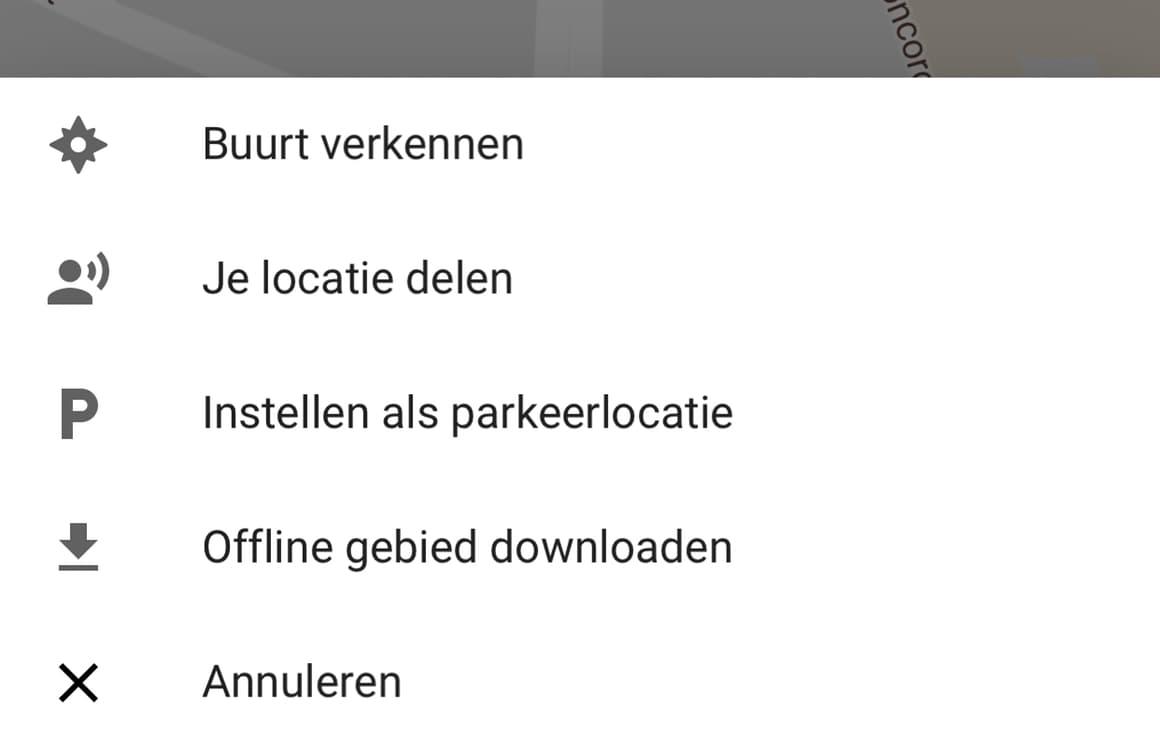 Google Maps parkeerlocatie