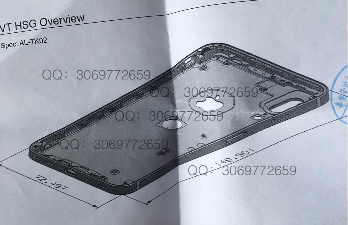 iPhone 8 designtekeningen