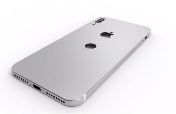 iPhone 8 renders tonen achterkant met vingerafdrukscanner