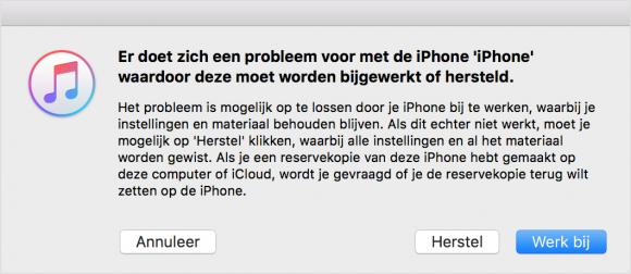 iphone gaat niet meer aan