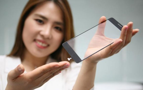 vingerafdrukscanner in iPhone 8-scherm