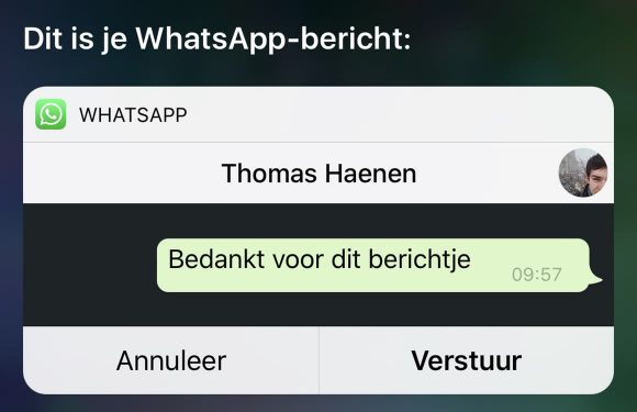 Siri WhatsApp voorlezen