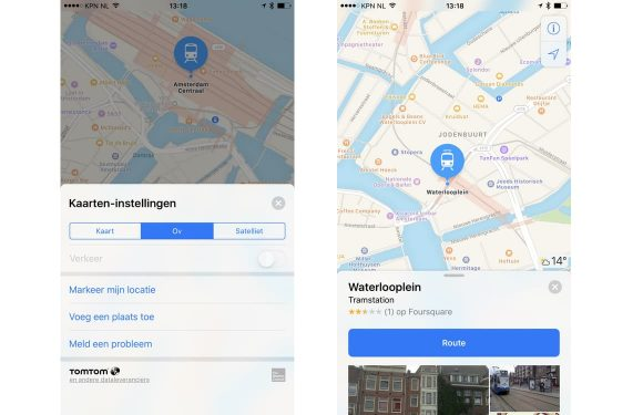Apple Maps OV info Nederland