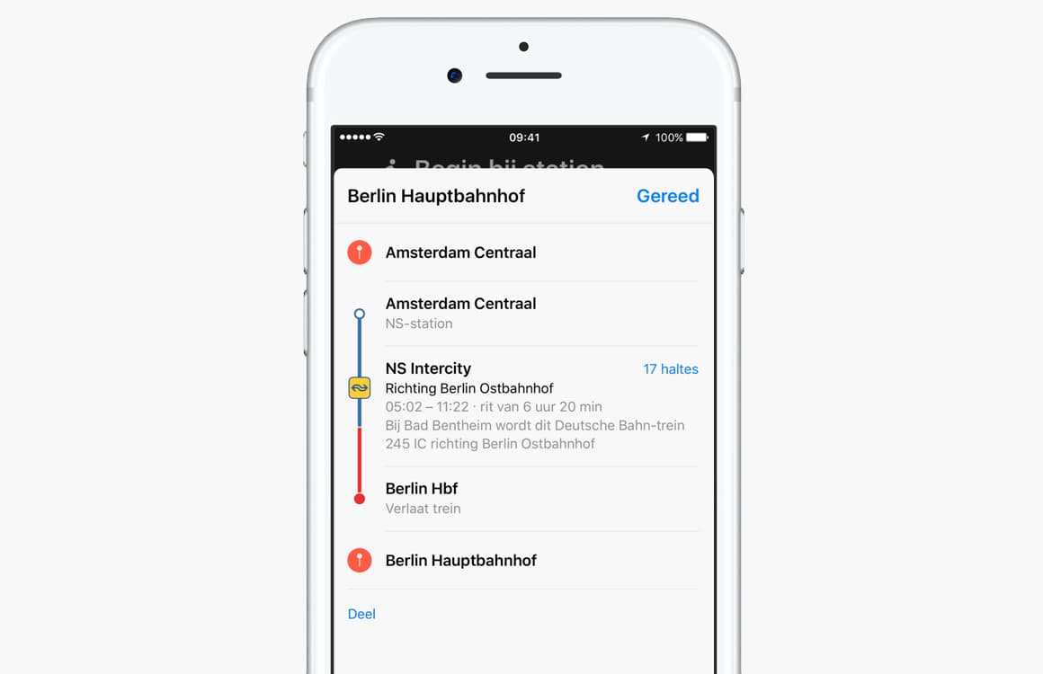 Apple Maps OV-info Nederland