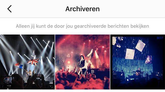 archiveer instagram-posts