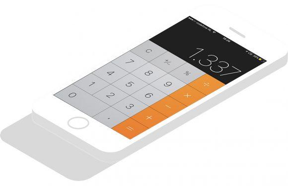 Zo gebruik je de backspace-functie van je iPhone-calculator