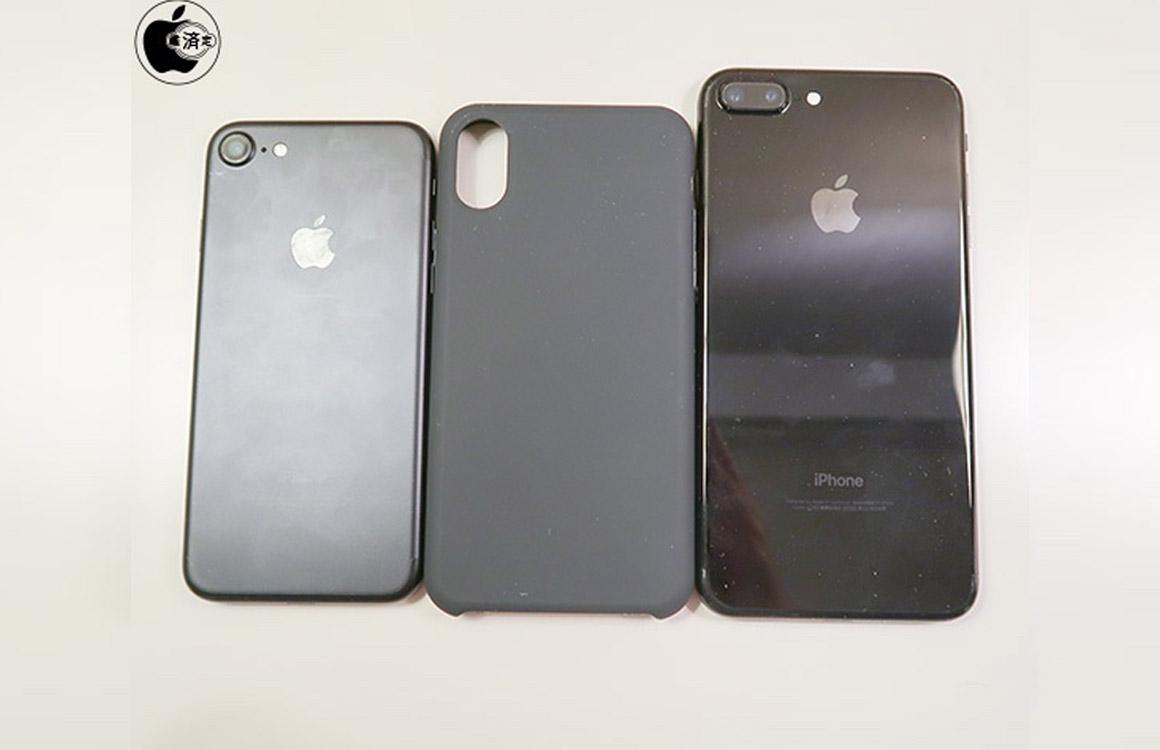 Case toont hoe groot iPhone 8 mogelijk wordt in vergelijking met iPhone 7