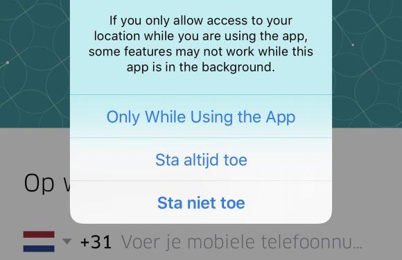 iOS 11 locatiegegevens