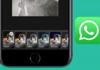 Zo gebruik je de nieuwe WhatsApp-filters voor foto's, video's en gifs