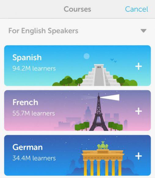 taal leren met duolingo