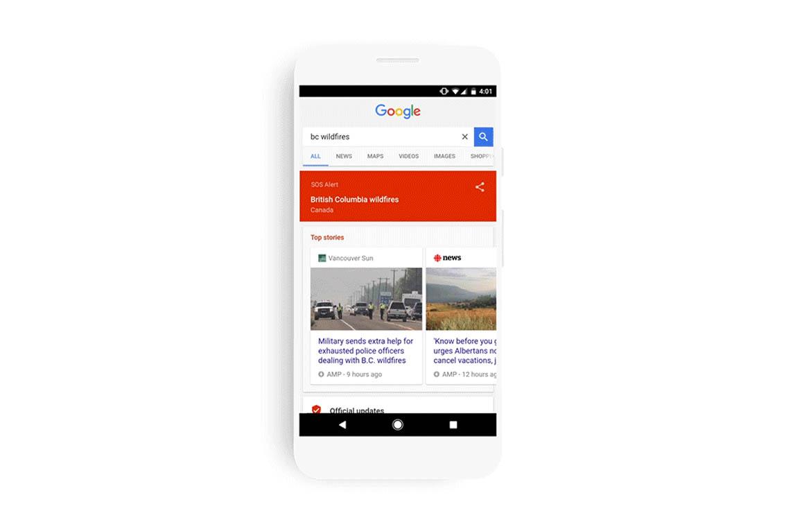 Google voegt alarmknop toe aan apps voor noodsituaties