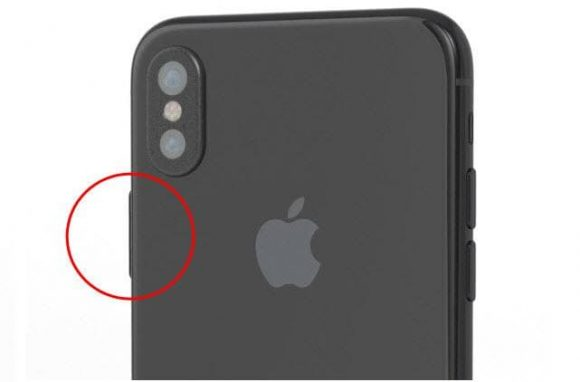 iPhone 8 vergrendelknop