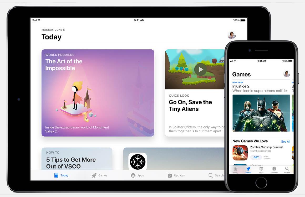 App Store gekrompen