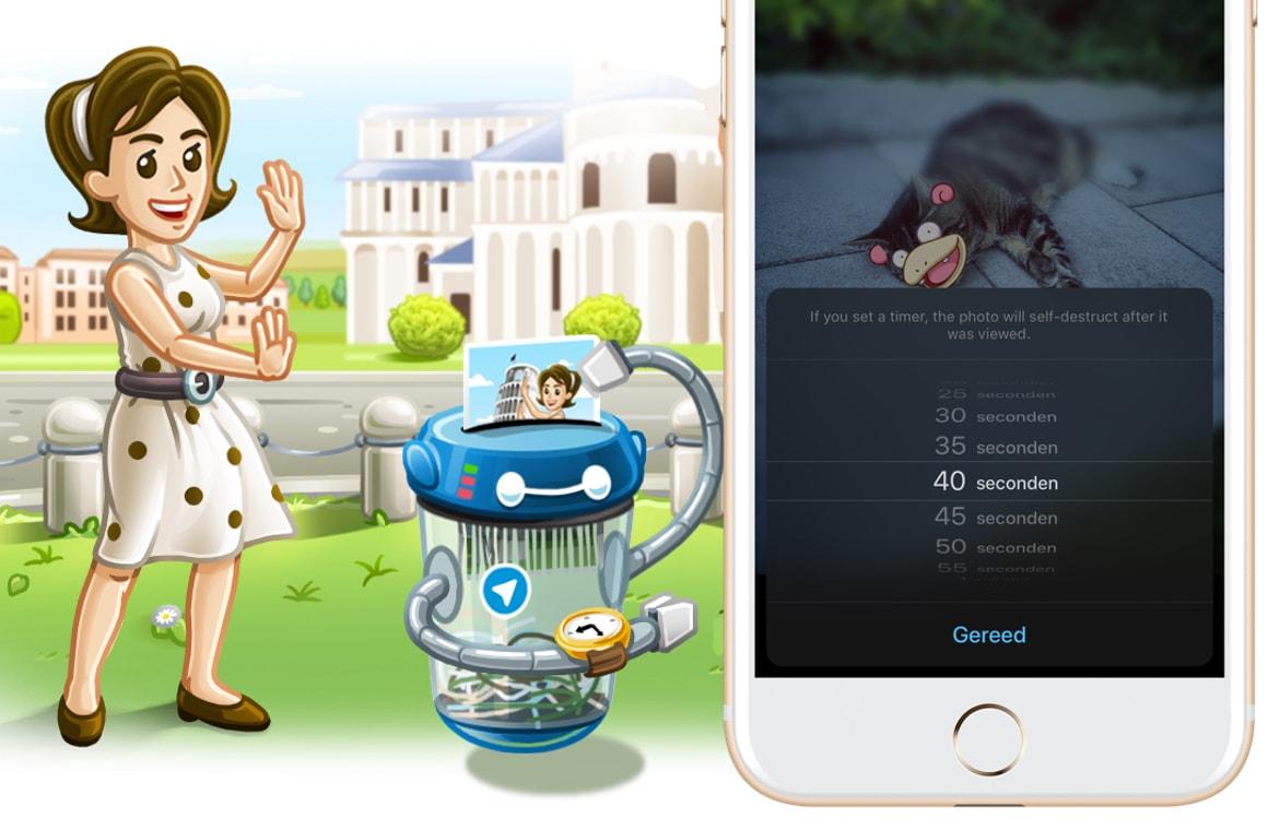 Telegram introduceert verdwijnende foto's en verbetert fotobewerker