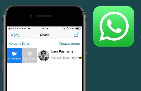 Een WhatsApp-gesprek vastzetten: zo doe je dat