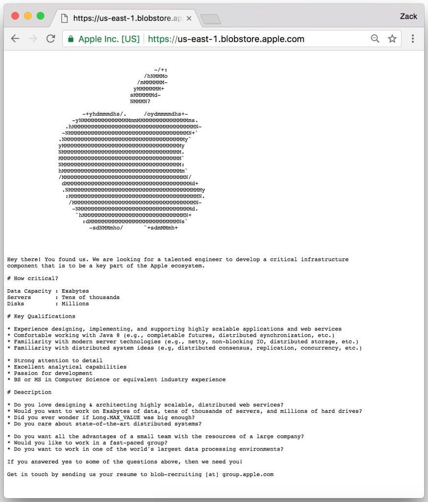 apple verstopt vacature