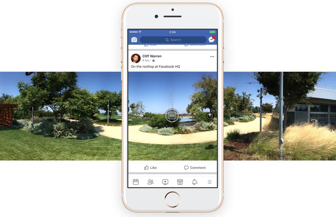 Zo maak je een 360-graden-panoramafoto met de Facebook-app