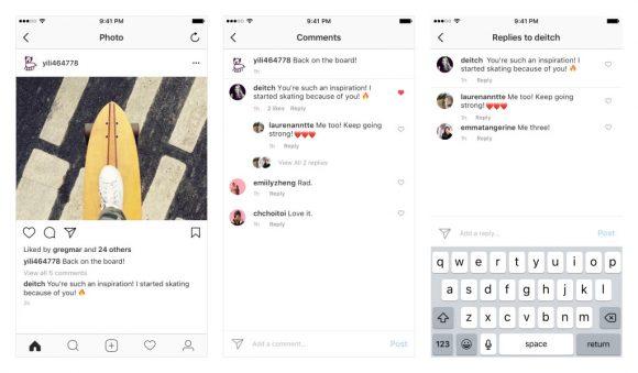 instagram gebundelde reacties