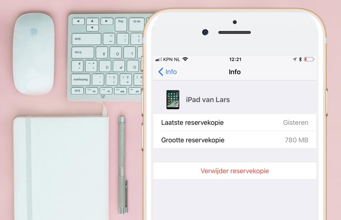 iPhone backup verwijderen