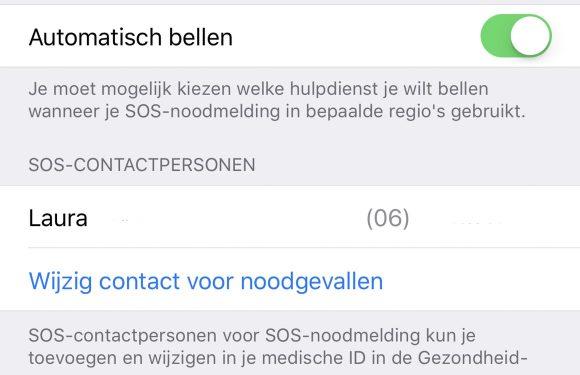 iPhone noodmelding