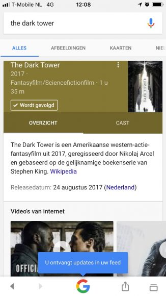 Google nieuwsfeed