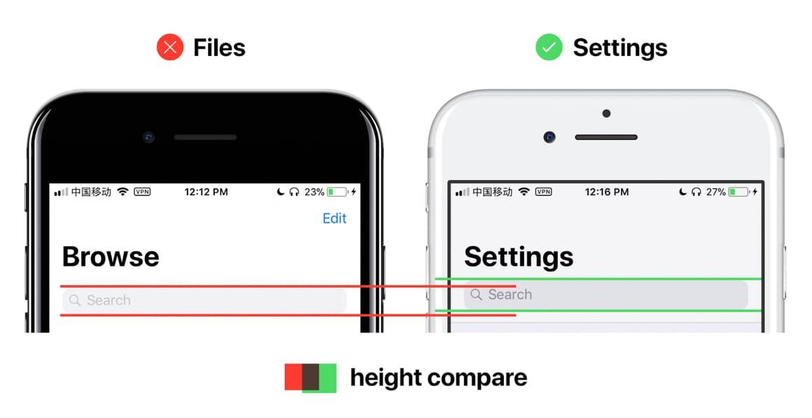 iOS 11 design
