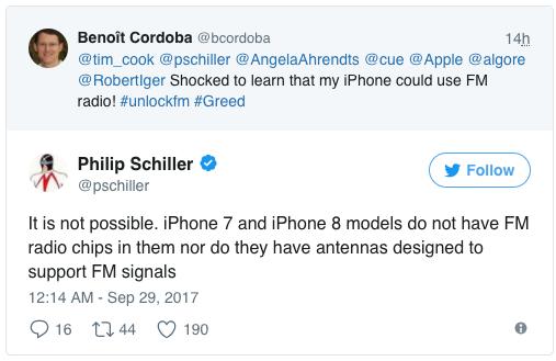 iPhone 8 fm-radio