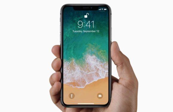 iPhone X homescreen