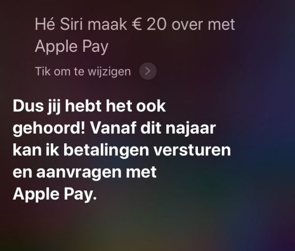 siri apple pay