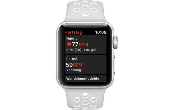 Apple Watch hartslag meten