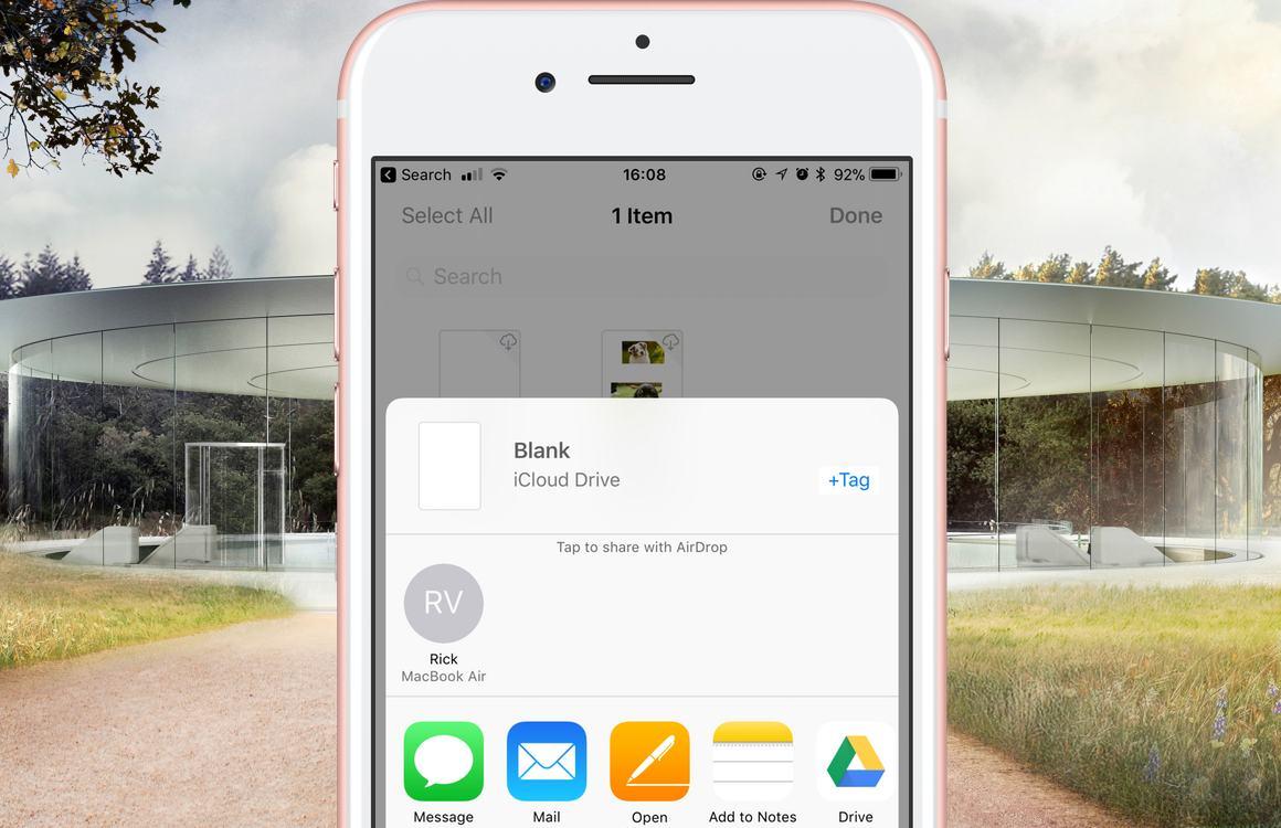 iCloud Drive samenwerken