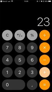 ios 11 rekenmachine