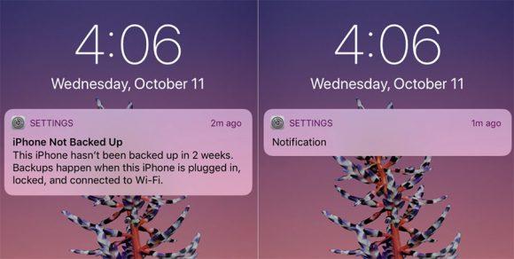 iphone x notificaties